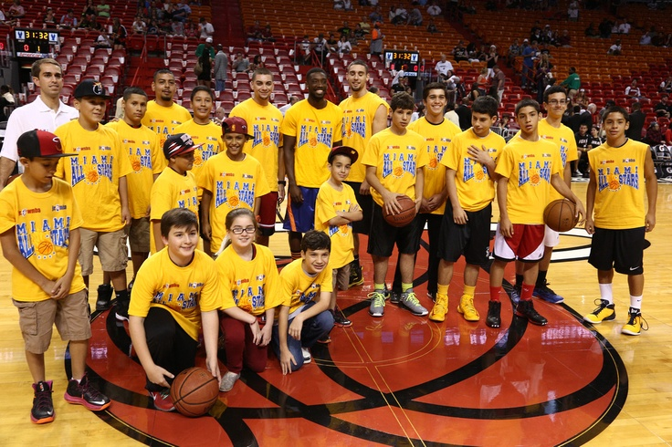 MIAMI ALL STARS AT HEAT COURT